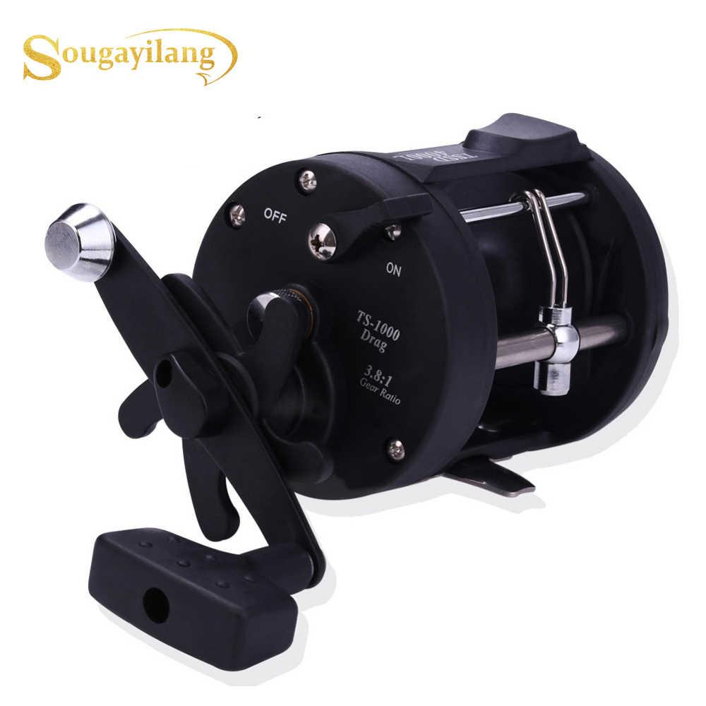 Sougayilang najwyższej jakości TSSD 3000L-4000L duży kołowrotek wędkarski morski słonowodne prawa ręka czarne ryby morskie kołowrotek wędkarski