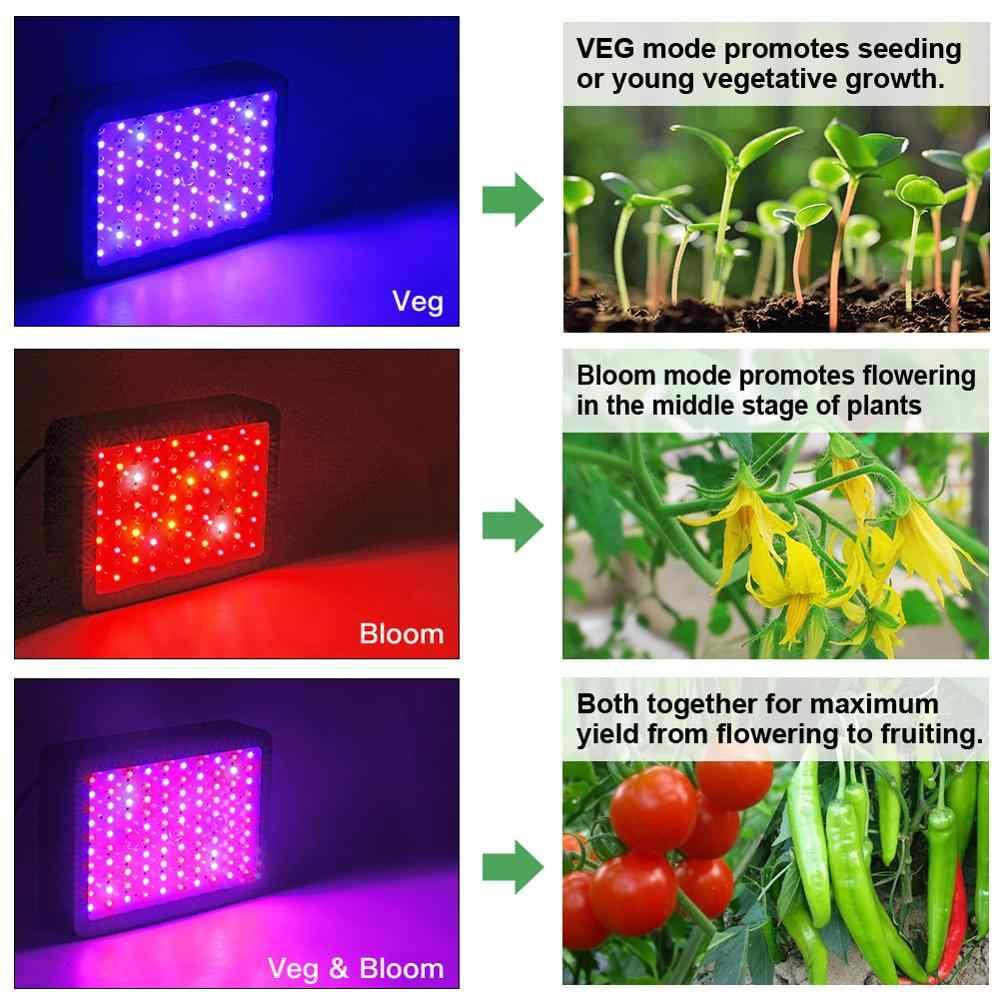 Famurs LED Grow Light 1000 W/1200 W/1500 W/2000 W/3000 W Full Spectrum triple-Chip Sayuran Mekar Switch untuk Tanaman Indoor Tumbuh Tenda
