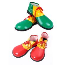 Adults Funny Artificial Leather Circus Clown Shoes Big Head Cosplay Carnival Party Performance Costume Props Hallow