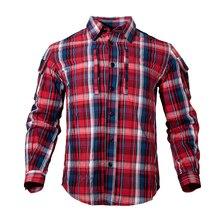Новая мужская тактическая клетчатая рубашка мужская клетчатая рубашка 4 дополнительных цвета