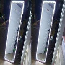 Светодиодный светильник-зеркало, лампа для макияжа, 1 м, 2 м, 3 м, 4 м, 5 м, лента с питанием от USB, 5 В, светильник для спальни, ванной комнаты, ing