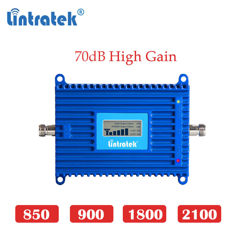 Lintratek Cellular Booster Repeater Mobile Cellphone Signal Gsm 2g 3g 4g Lte Umts DCS GSM 900 2100 1800mhz  4g Lte Amplifier Dd
