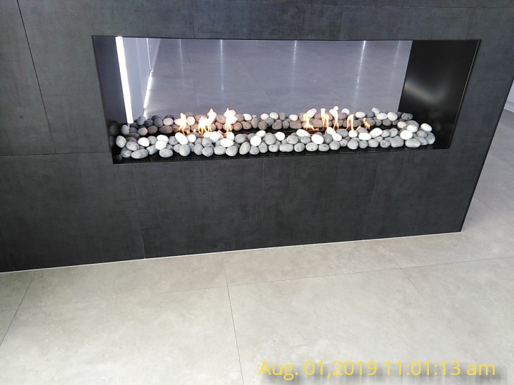 48 Inch Real Fire Remote Control Intelligent Smart Ethanol Indoor Fireplace