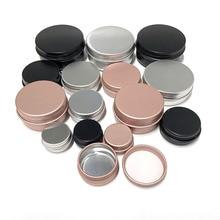 50Pcs 5g 10g 15g 20g 30g 50g Aluminum Jars Empty Cosmetic Makeup Cream Lip Balm Gloss Metal Aluminum Tin Containers