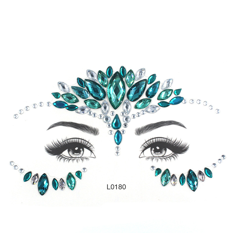 Eye Glitter Rhinestone Temporary Tattoo Stickers Body Face Jewel Party Makeup Tatoo Face Crystal Stickers For Woman Girls Stick. (5)