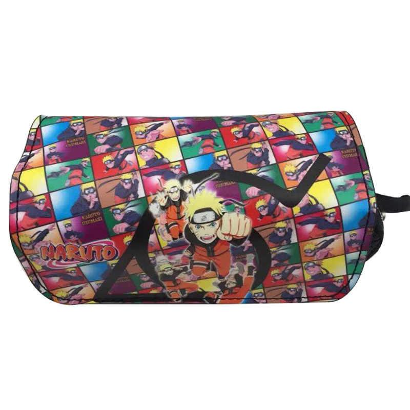 Naruto Shippuden Portemonnee Hatake Kakashi Uzumaki Uchiha Sasuke Akatsuki Potlood Houder Case Potlood Tas Briefpapier tassen Portemonnee