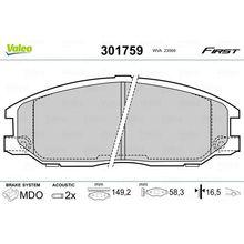 Колодки дисковые передние HyundaiXG 25/30/300 2.5i/3.0i V6 99 VA