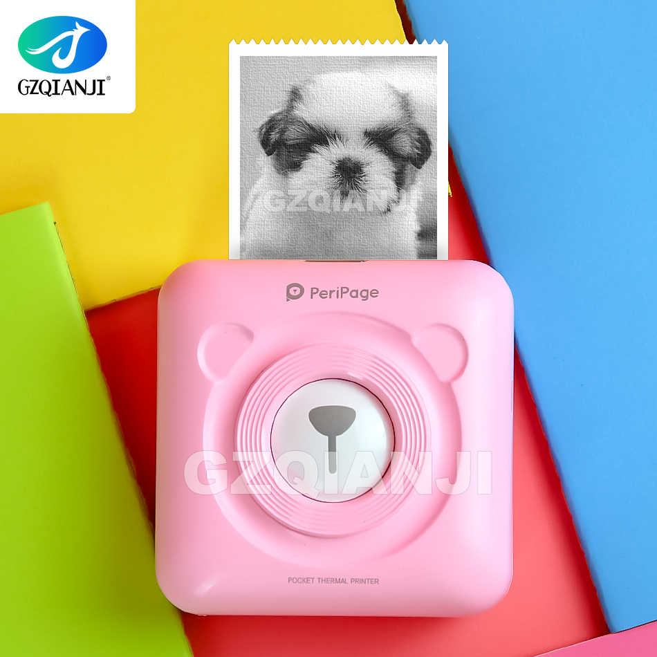Foto Portable Thermal Bluetooth 58 Mm Mini Nirkabel POS Thermal Gambar Imprimante Printer Foto untuk Android IOS Ponsel