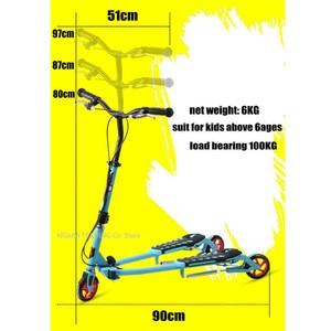 Image 3 - Katlanır çocuklar scooter 3 tekerlekli, taşınabilir 2 pedallı Scooter üç tekerlekli bisiklet, makas scooter ayarlamak yükseklik, pu tekerlek çocuk scooter