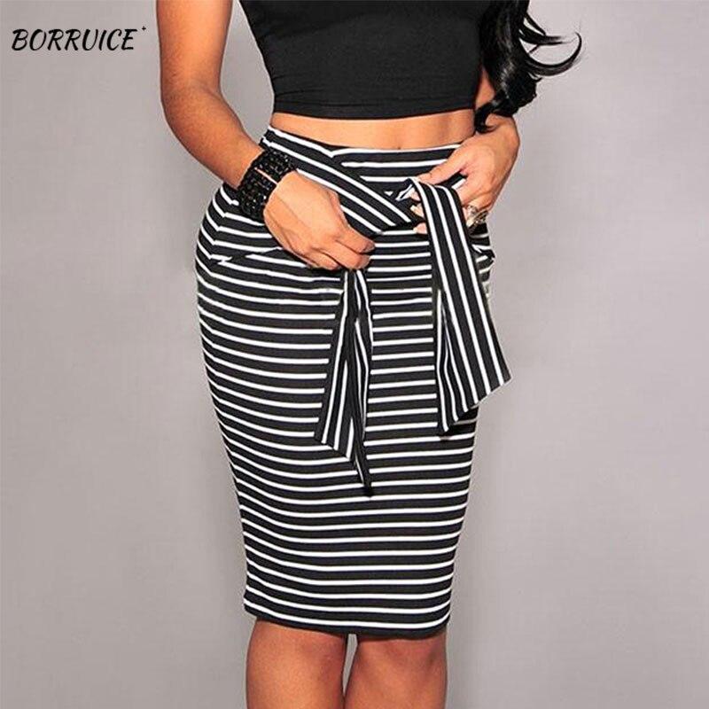 Summer Ladies Striped Straps Hip Skirt Sexy Tight Skirt Women's Party Costume Black Wild Skirt