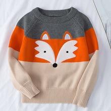 Boys Sweaters Coat Pullovers Knitting Baby-Girls Kids Cartoon Tops Long-Sleeve Autumn