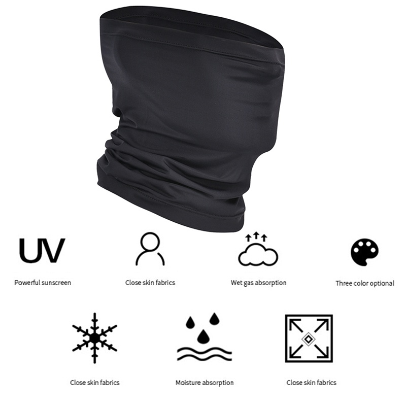 Outdoor Bandanas 2 Pcs Suit Summer Anti-sweat Face Cover Breathable Headband Running Cycling Sports Scarves Black White
