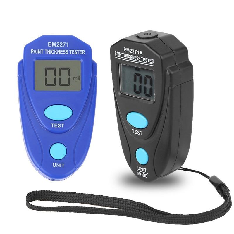 Blue Black Paint Thickness Tester Professional Mini Digital Coating Meter Gauge LCD Display Paint Measure Tester Tool Instruments