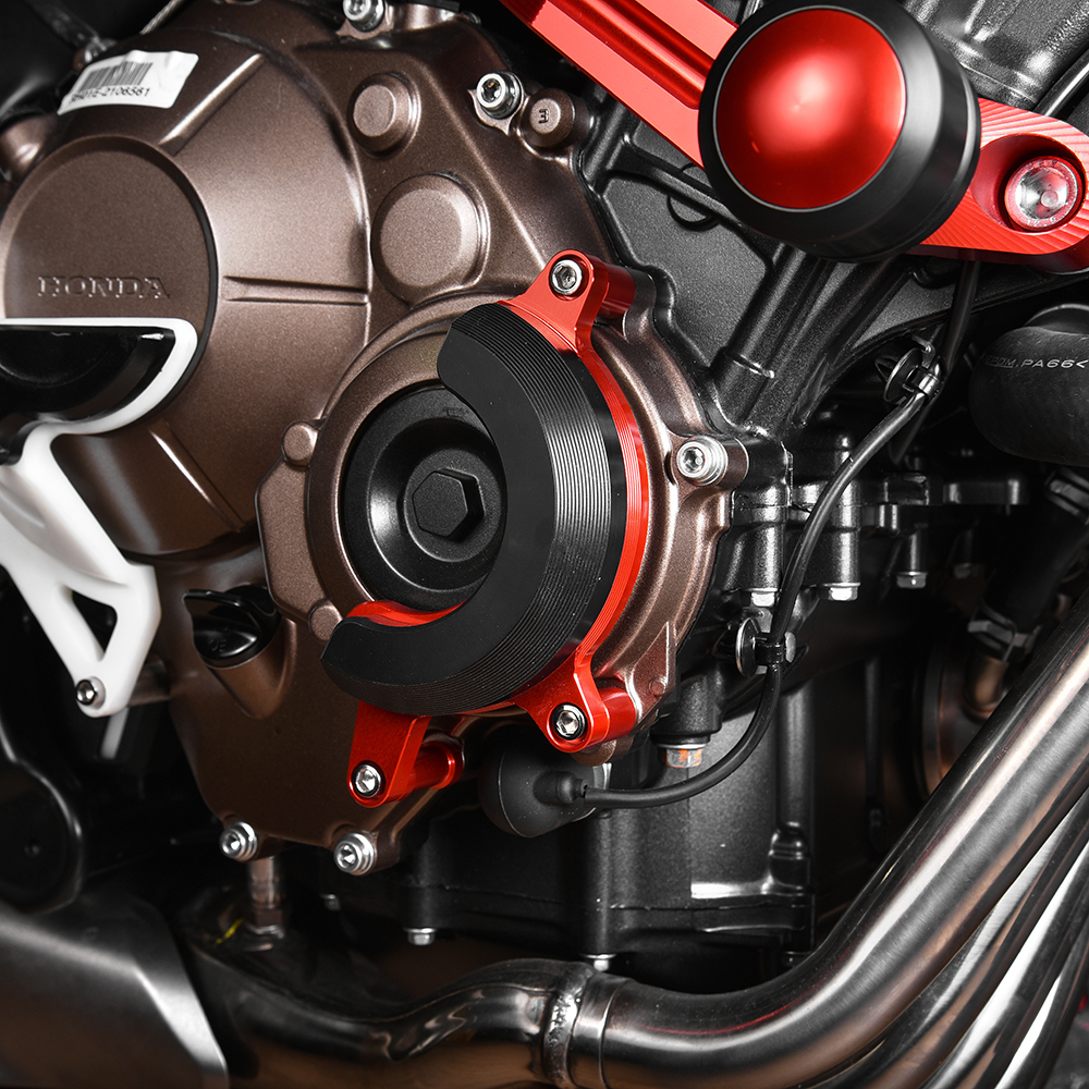 Honda CBR600RR carbon muffler cover PC37 03-06 exhaust heat shield protector
