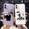 Phone Case for IPhone 11 12 X XR XS Pro MAX SE  6 6S 7 8 Plus Shockproof Silicone Jujutsu Kaisen Anime Phone Shell Case Coque