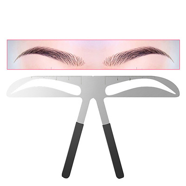 DIY Eyebrow Ruler Popular  Eyebrow Stencils Ruler Makeup Microblading  Measure Tools Beauty Balance Tattoo Stencil Template 4