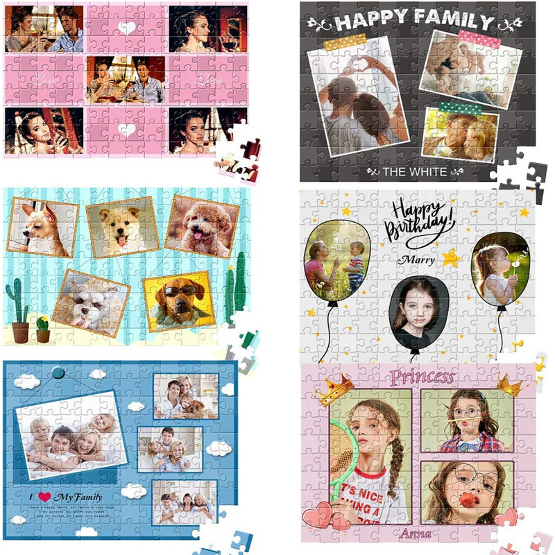 200/300/500/1000/ Pieces Wooden Photo Custom Jigsaw Puzzle DIY Personalized Gifts Puzzles For Kids Adult 5