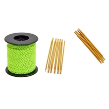 2.5mm/50M Outdoor Camping Tent Reflective Rope Fixed Pull Rope with 2Pc/Set Outdoor Camping Tent Pole 8.5mm 4.42M