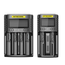 NITECORE UMS2 UMS4 Battery Charger, USB Output 3A for Lithium Ion Ni-MH NiCd 18650 20700 21700 10500 Universal Battery Charger(China)
