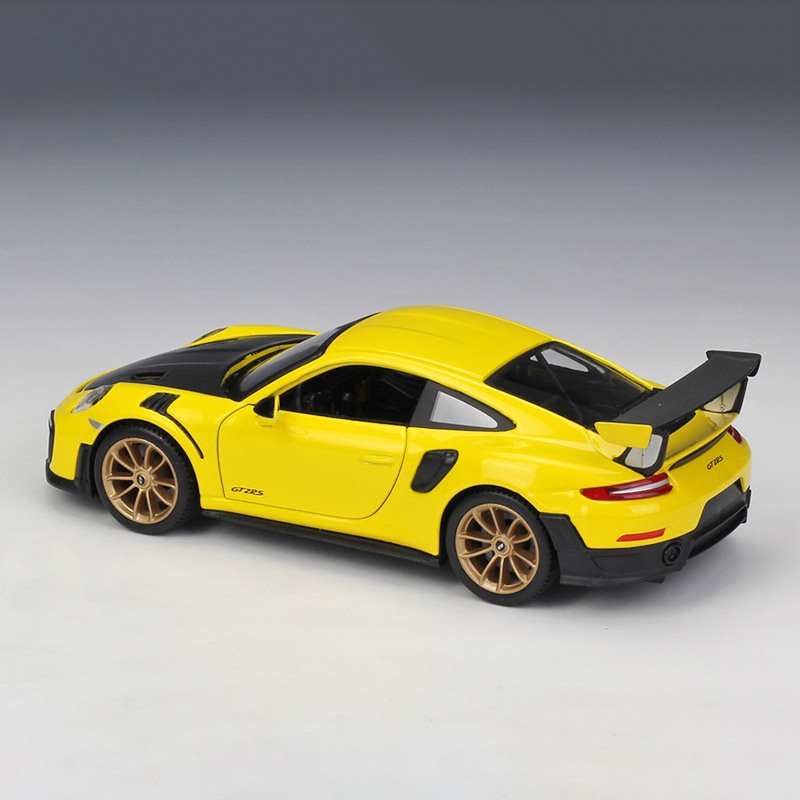 GT2 RS Yellow Diecast Model Car 4