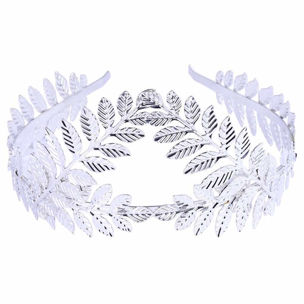 ผู้หญิงแถบคาดศีรษะโลหะผสม-encrusted Baroque ใบดอกไม้ Diamond Headband เทพธิดา Headbands CHAIN อุปกรณ์เสริมสำหรับผมหญิง # Y5