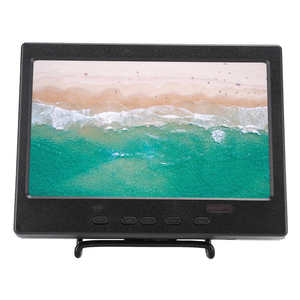 7in Portble Monitor 1024x600 16:9 TFT LCD Display Screen with HDMI VGA RCA Video Input Fit for Raspberry Pi 4B CCTV Car Dispalys