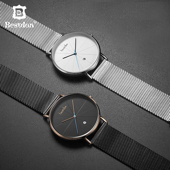 Switzerland Brand Minimalist Watch For Men Luxury Casual Style Geek Designer Waterproof Slim Quartz Relogio Masculino Students