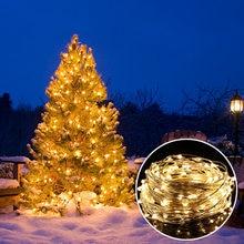 Luzes da corda 66ft com 200 leds tira fio de cobre à prova dwaterproof água luzes de fadas para o quarto jardim festa casamento decoração natal