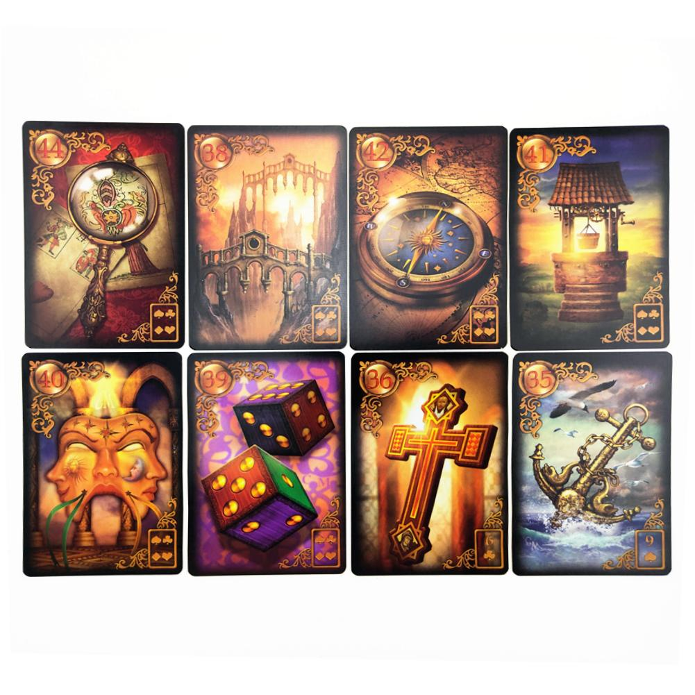 47pcs/pack Lenormand Oracle Cards Gilded Reverie Tarot Cards Deck Game Boards Expanded Edition Games Cards