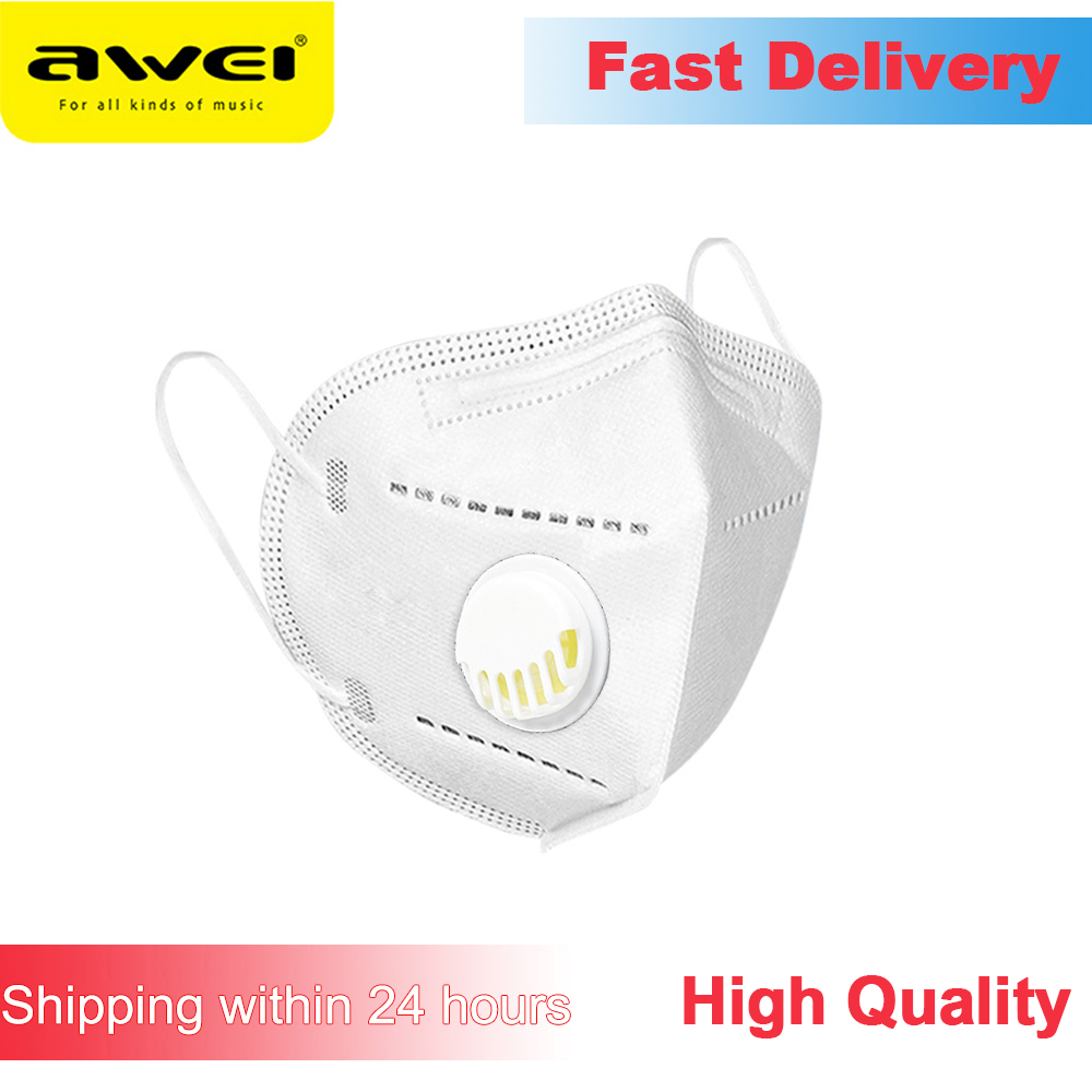 Awei 5 Layers Valve Mask Face Mouth Protective Masks Bacteria Proof Anti Infection PM2.5 Disposable Dust Respirator
