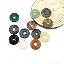 14 шт/лот разноцветные бусины из камня 30 мм круглые камни diy