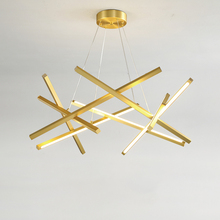 72W 88W 104W Gold / Black LED Chandelier Lighting For Living Room Home Decoration Hanging Lamp Modern Simple Acrylic Chandeliers