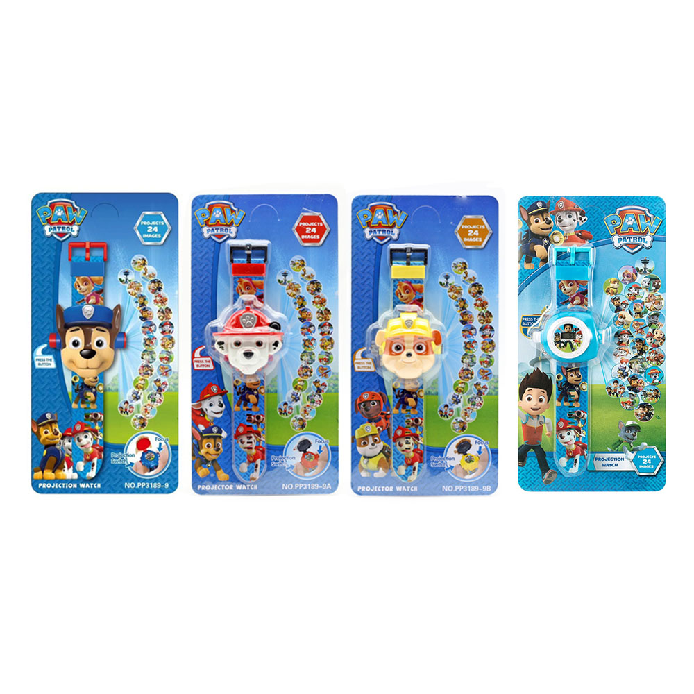 Paw Patrol Toys Set 3D Projection Watch Action Figure Paw Patrol Birthday Anime Figure Patrol Paw Patrulla Canina Toy Gift