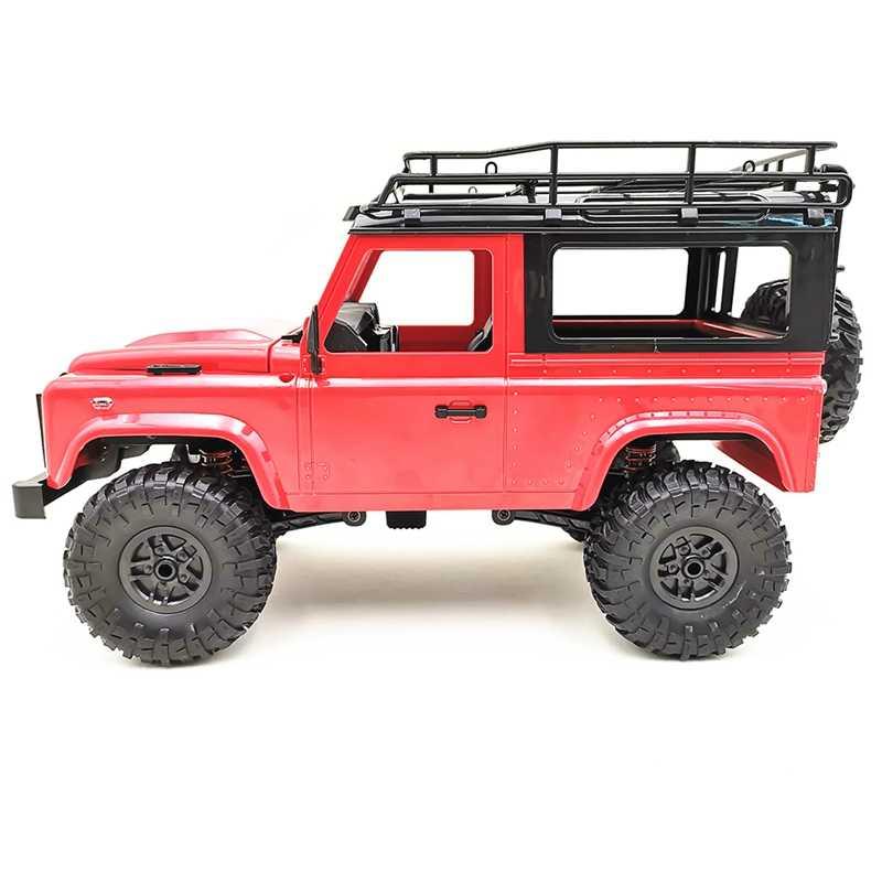 Mn-90 1/12 2,4G 4Wd 15 KMH Rc coche con luz delantera Led 2 carcasa Rock Crawler camión Rtr juguete regalo de navidad niños (rojo)