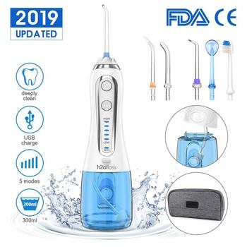 5 Modes Water Floss USB Rechargeable Irrigator Dental Teeth Cleaner + Bag 300ml Cordless Oral Irrigator Water Floss Irrigator 5 modes cordless oral irrigator usb rechargeable water floss portable dental water flosser 300ml irrigator dental teeth cleaner
