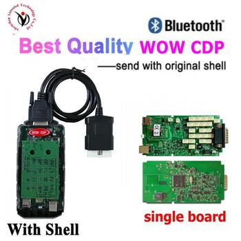 V5.00.12 wow cdp obd2 obdii Scanner new relays Single PCB bluetooth vd ds150e cdp for car truck diagnostic tool for delphis
