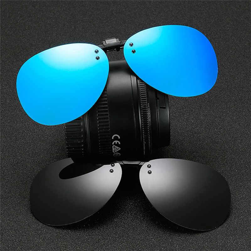 Neue Hohe Qualität Bequem Polarisierte Clip-auf Nacht Vision Pilot Angeln Sonnenbrille Flip-up Len Radfahren Fahren Gläser #288216