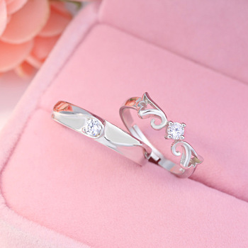 Sterling Silver Angel Wing Couple Set 3