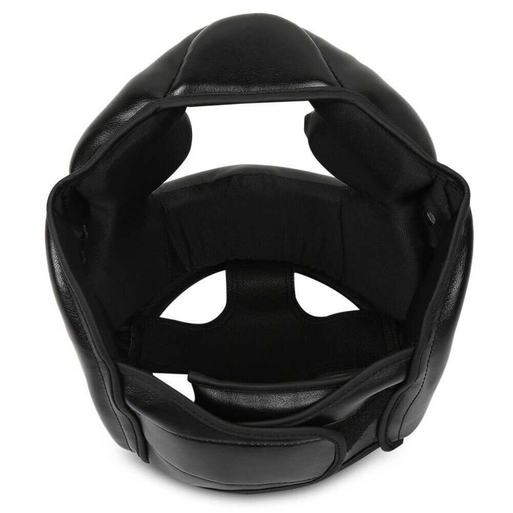 Practical Head Guard Adults Boxing Helmet Martial Art Closed Type Faux Leather