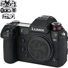 Kiwifotos المضادة للخدش كاميرا الجسم الجلد غطاء غشاء واقي لباناسونيك لوميكس S1 S1R 3M ملصق الظل الأسود
