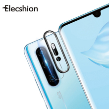 2 In 1 Tempered Camera Lens Glass For Huawei P30 Metal Protection Ring Pro Ultra-Thin Protector