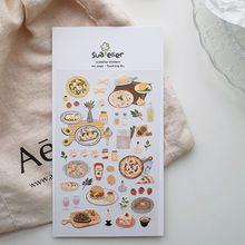 Italy food trip scrapbooking stationery stickers pizza spaghetti beaf cute die cut album decorative sticker