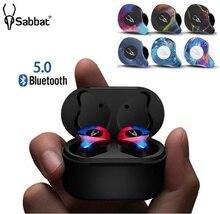 Najnowszy Sabbat X12 Pro Mini Bluetooth słuchawki V5.0 prawdziwe bezprzewodowe słuchawki zestaw słuchawkowy hi fi IPX5 sportowe słuchawki douszne dla inteligentnego telefonu