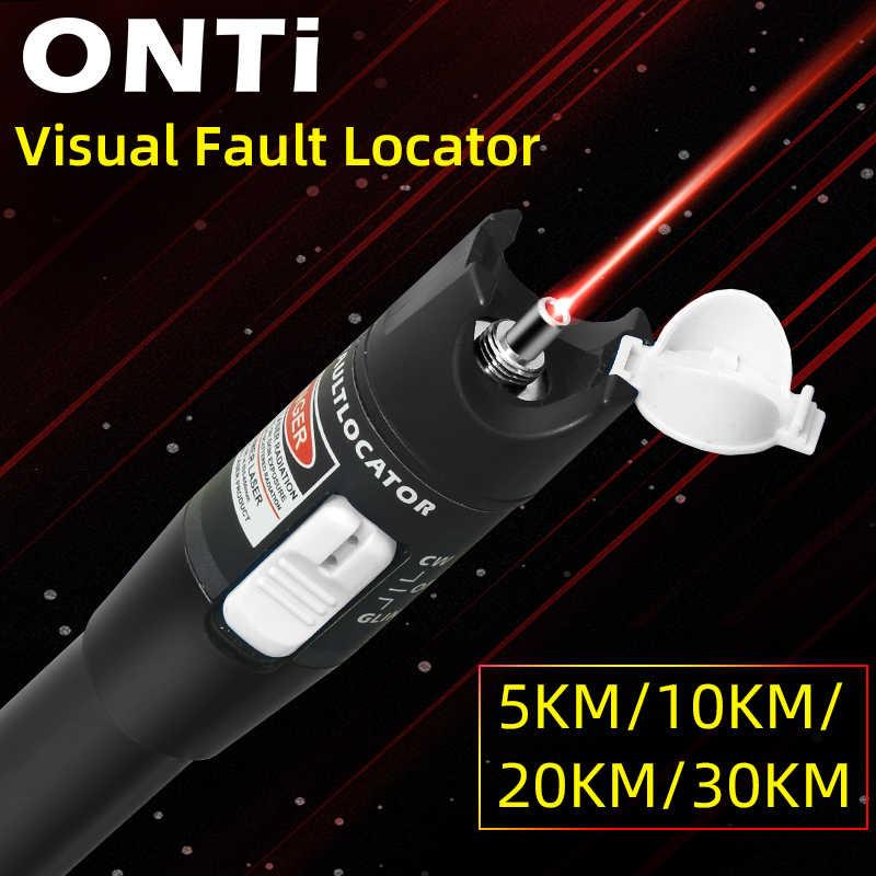 Onti 10 Mw Visual Fault Locator Fiber Optic Cable Tester 30 Mw Rode Laser Licht 5-30Km Pen type Visual Fault Locator Sc/Fc/St