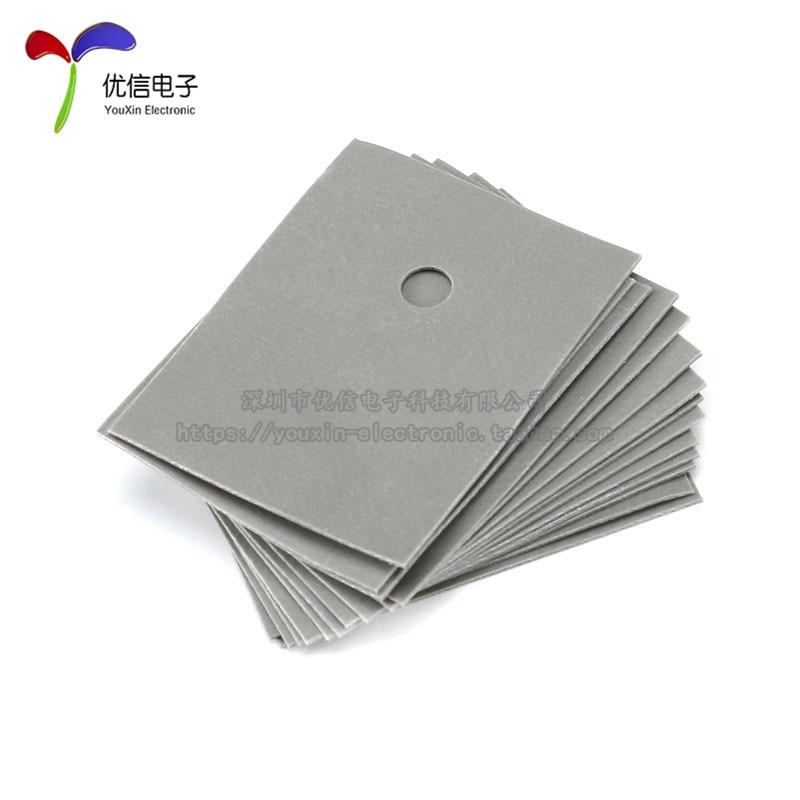 20pcs Hot Sale Silicone Insulation Sheet TO-220 13X18MM Transistor Silicon Insulator TO 220 Heatsink Insulating Silica Films
