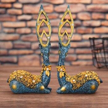 Decoración del hogar arte de resina accesorios de habitación dormitorio nórdico decoración regalo livre Decoración accesorios parael hogar ciervo elefante