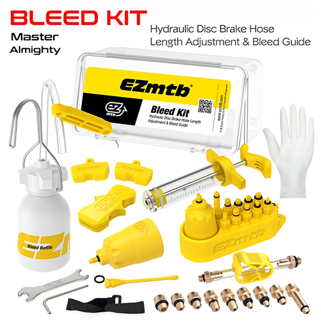 Universal Bicycle Hydraulic Disc Brake Bleed Kit BikeTool Kit for shimano&tektro&magura&hayes&formula&sram&avid&giant&nutt brake