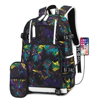 Waterproof Backpack USB Charging Backpack Student Schoolbag Teen Schoolbag Travel Backpack Men Backpack Laptop Backpack фото