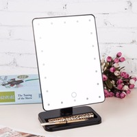 Beauty Cosmetic Make Up Illuminated Desktop Stand Mirror With 20 LED Light With Exquisite And Elegant Appearance 2018 Hot New