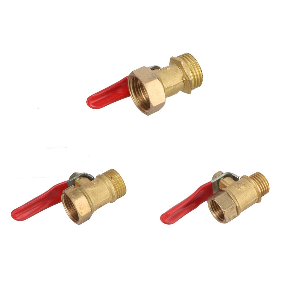 Pneumatic 1/4'' 3/8'' <font><b>1/2</b></font>' BSP Female/Male Thread <font><b>Mini</b></font> <font><b>Ball</b></font> <font><b>Valve</b></font> <font><b>Brass</b></font> Connector Joint Copper Pipe Fitting Coupler Adapters image